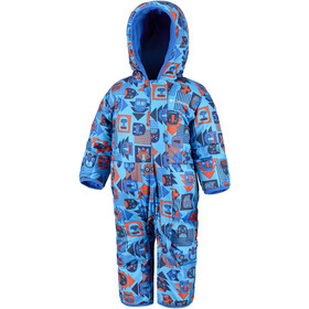 Columbia Snuggly Bunny Bunting Mono Bebés, super blue critter block/super blue